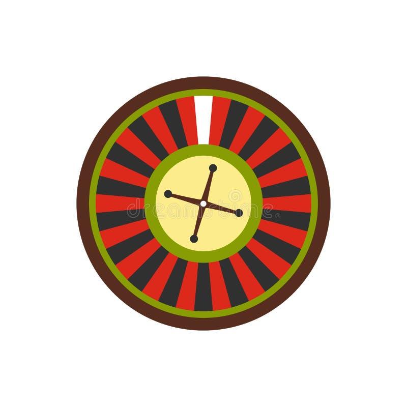 Casino symbol, roulette flat icon. Isolated on white background vector illustration