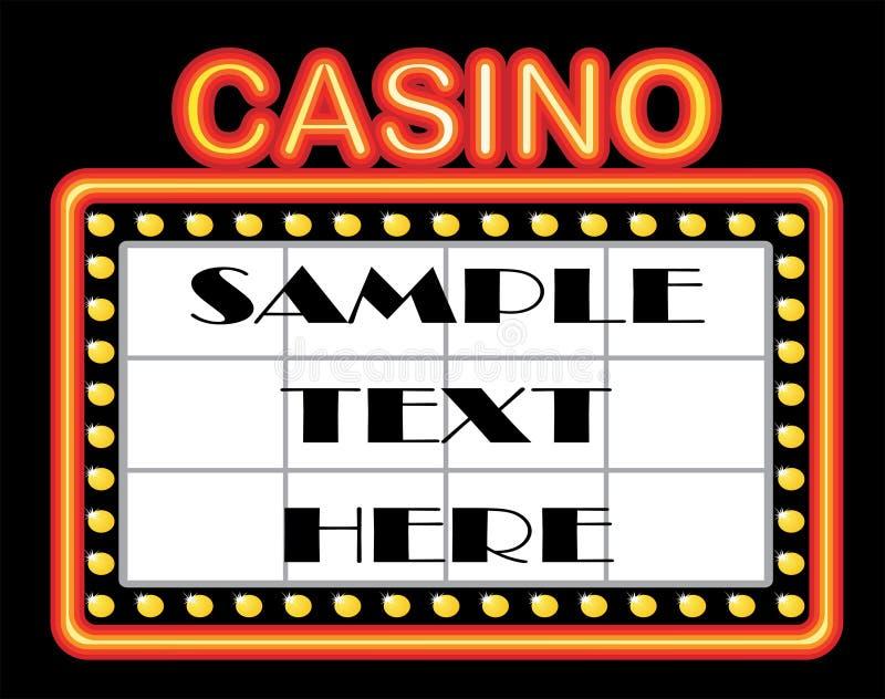 Casino template vector illustration