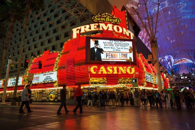 Casino Vegas de rue de Fremont photo libre de droits
