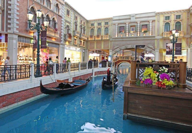 Casino veneciano en Macao foto de archivo