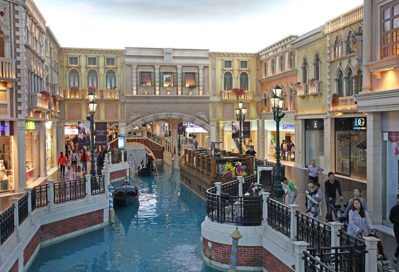 Casino veneciano en Macao imagen de archivo