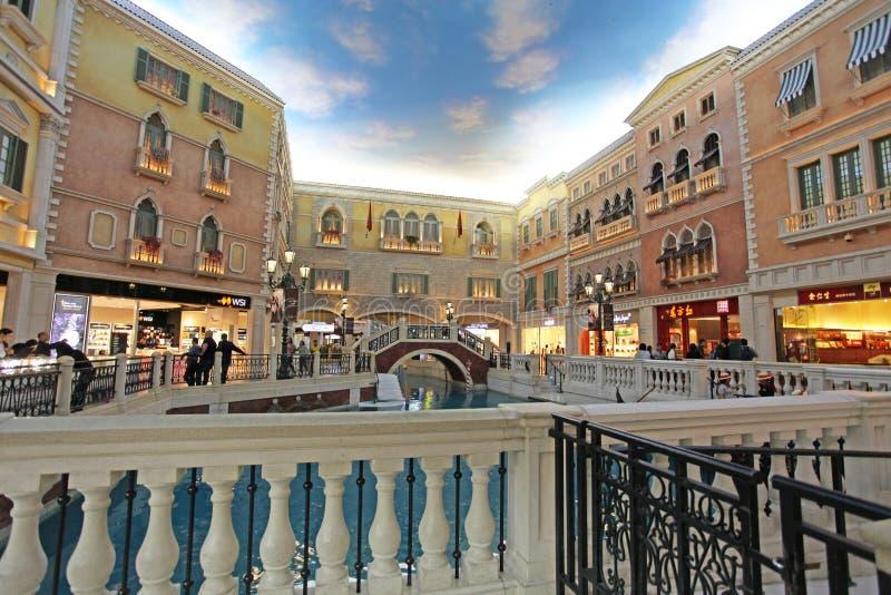 Casino veneciano en Macao imagen de archivo libre de regalías