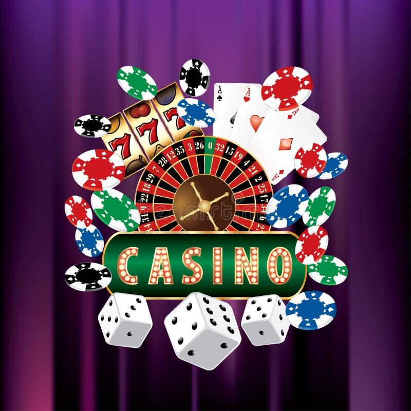 Casino violeta del terciopelo stock de ilustración