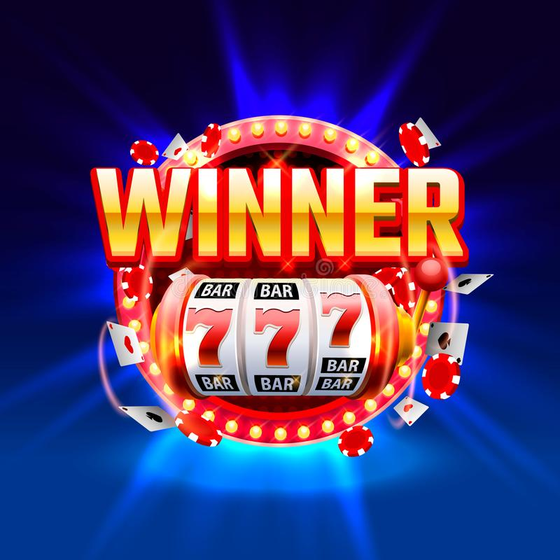 Casino Winner Slots 777 Banner, Show Frame Label. Stock Vector -  Illustration of roulette, lucky: 148159238