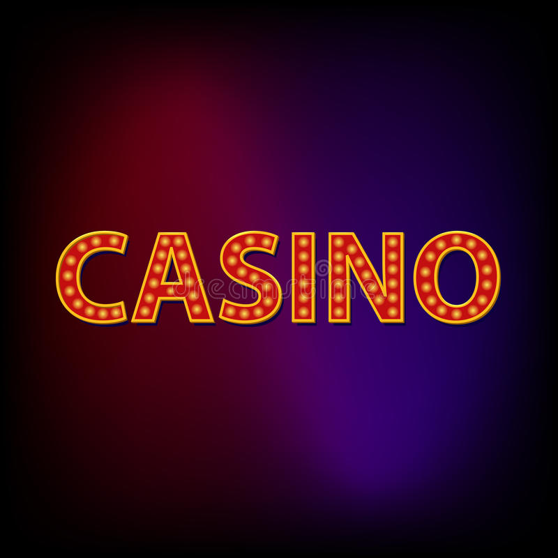 Casino word icon, cartoon style. Casino word icon in cartoon style for any design vector illustration
