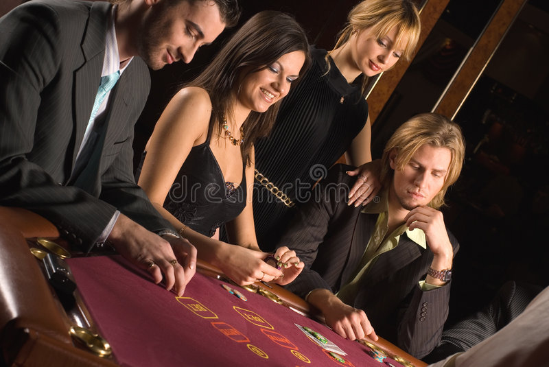 Casino and youth stock photography