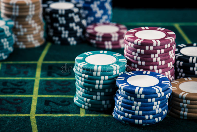 Casinobeeld stock foto