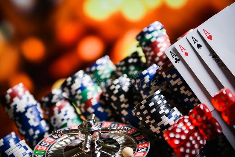 CASINOconcept Close-up van roulettespaanders royalty-vrije stock afbeelding