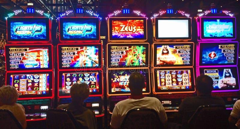 Casinogokautomaat stock foto's