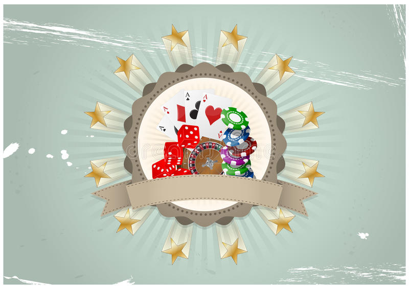 Casinokenteken royalty-vrije illustratie