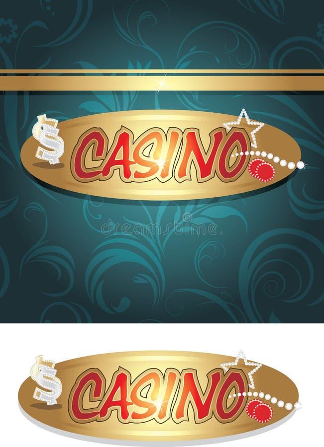 Casinopictogram en achtergrond voor ontwerp vector illustratie