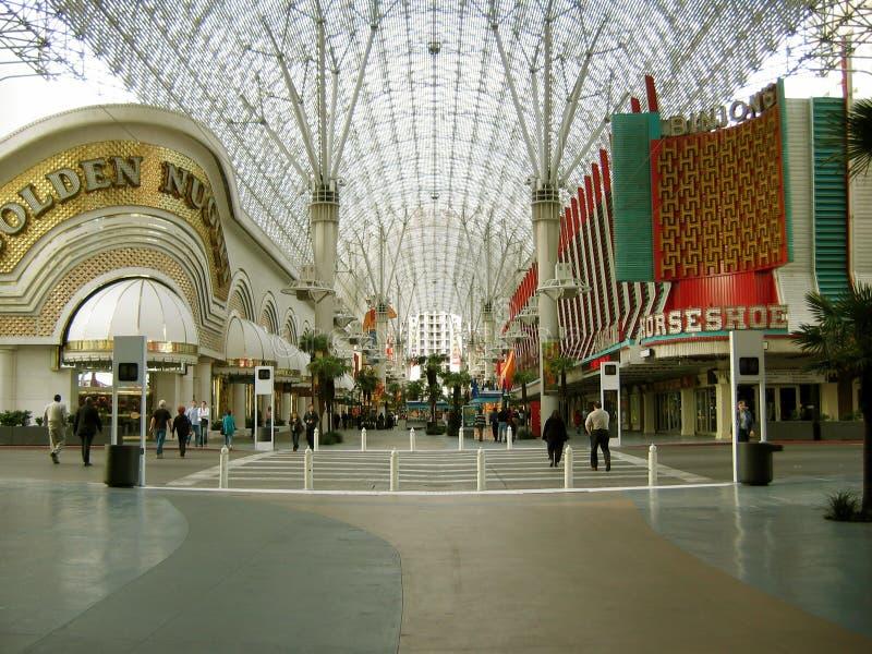 Casinos d'hôtel d'or de pépite et de fer à cheval, Las Vegas, Nevada, Etats-Unis photo libre de droits