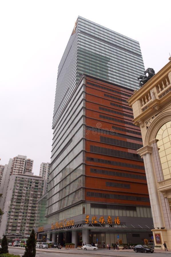 Casinos du monde d'étoile dans Macao image stock