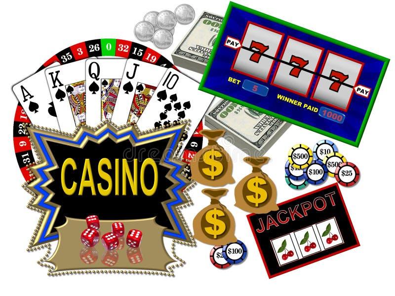 Casinos et jeu illustration libre de droits