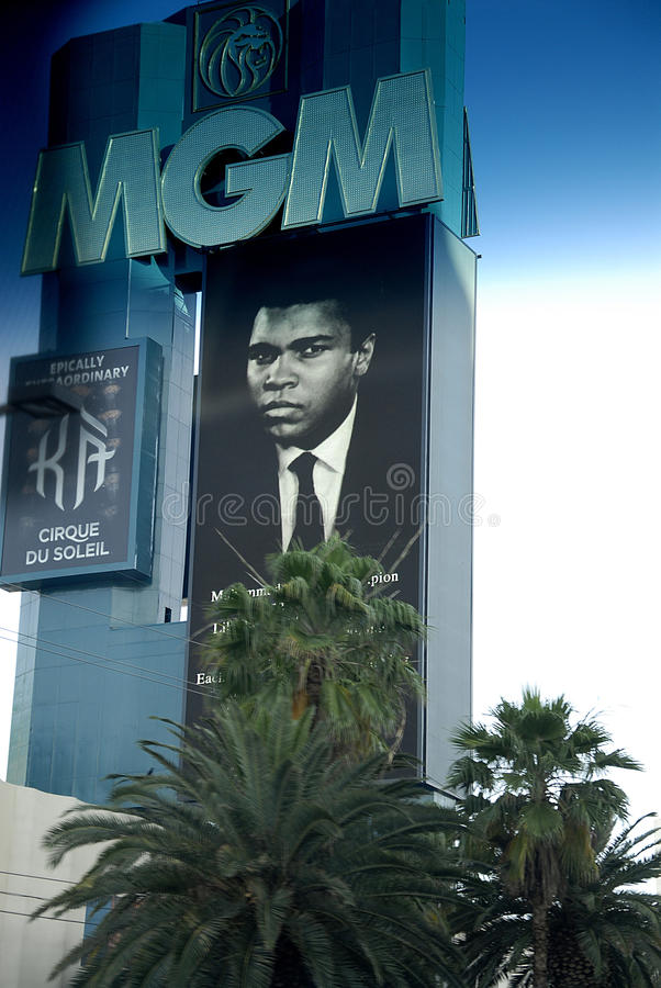 CASINOS PAY TRIBUTE TO MUHAMMAD ALI LEGEND. Los Vegas/Nevada /USA- 04 June 2016_ Various casino paying tribute to Late Muhammad Ali legend boxer have pic picture stock image