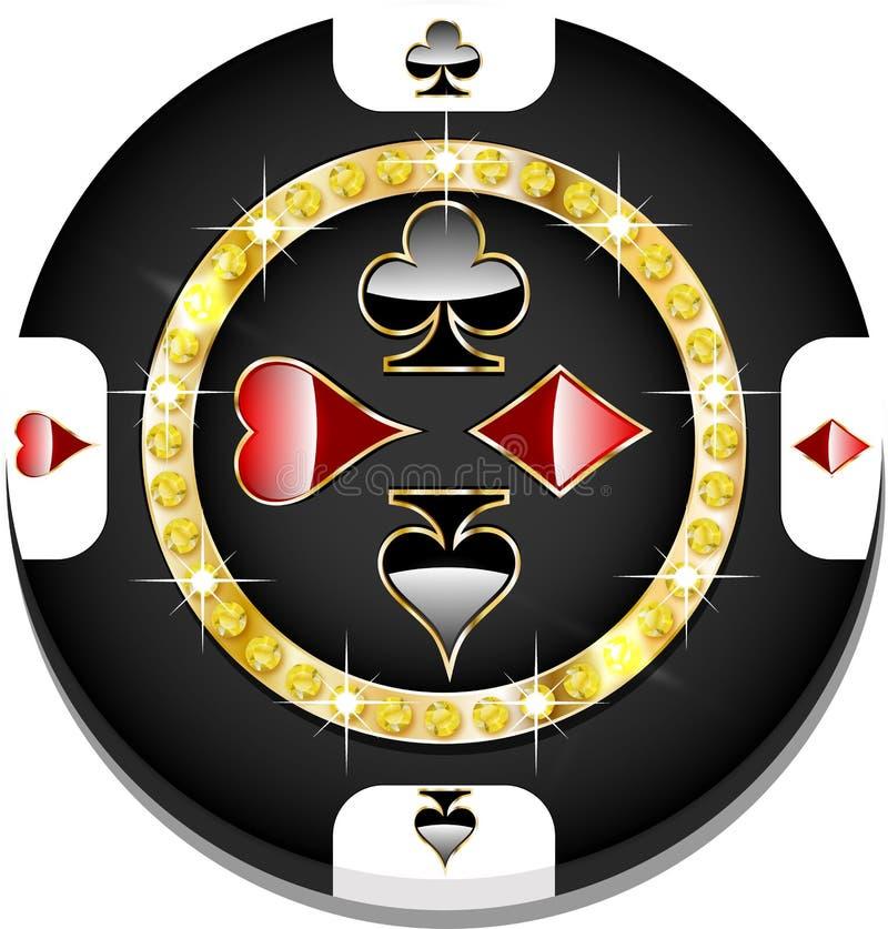 Casinospaander vector illustratie