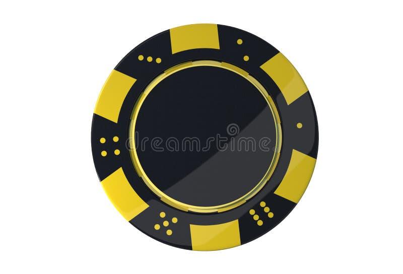 Casinospel Chip Isolated vector illustratie