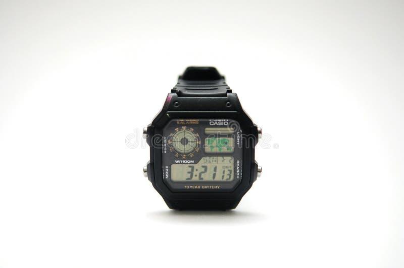 Casio digitaal horloge royalty-vrije stock foto