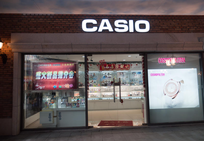 Download Casio shop at Han street editorial stock image. Image of price - 23095479