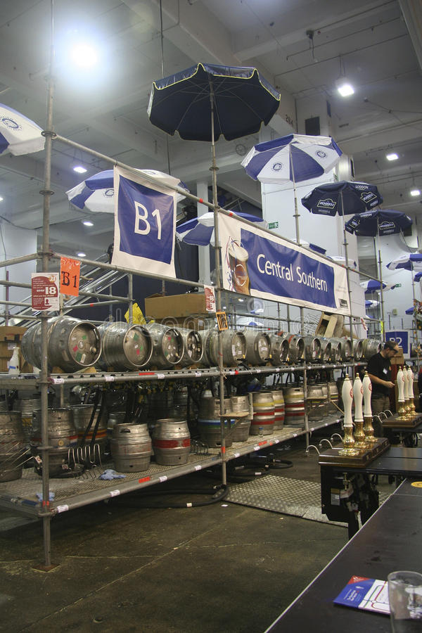 Cask Beer of The Great British Beer Festival royalty free stock photo
