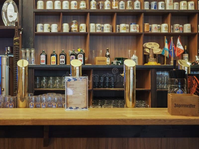 Cask beers in Hamburg stock photos