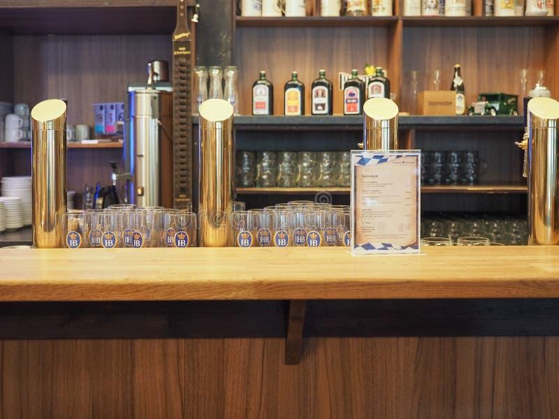 Cask beers in Hamburg royalty free stock photo