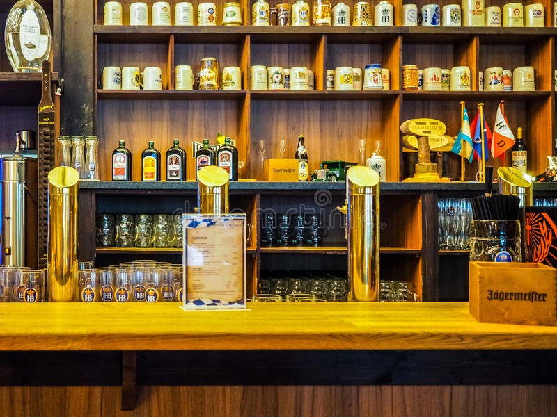 Cask beers in Hamburg hdr royalty free stock images