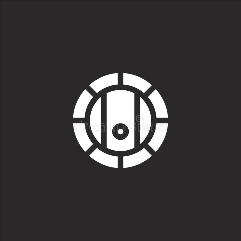 cask icon. Filled cask icon for website design and mobile, app development. cask icon from filled bar collection isolated on black stock illustration