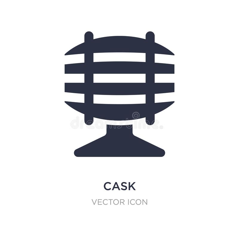 cask icon on white background. Simple element illustration from Drinks concept vector illustration