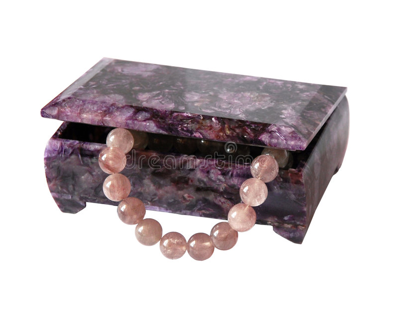 Download Casket From Charoit With A Beads From Quartz Stock Image - Image: 1705475