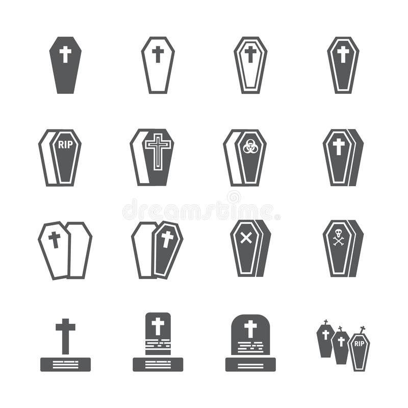 Casket icon set royalty free stock images