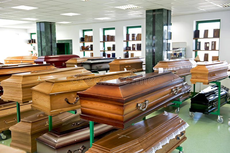 Casket store stock photography