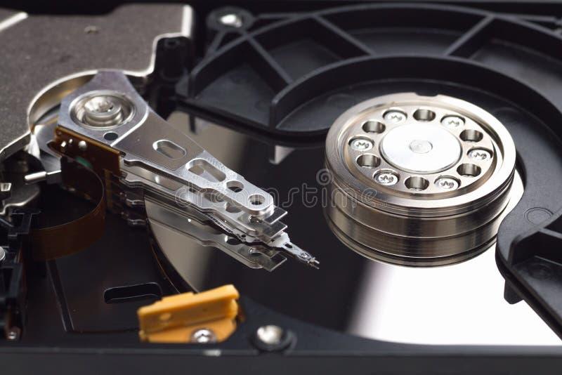 Caso aperto del drive del hard disk fotografie stock libere da diritti