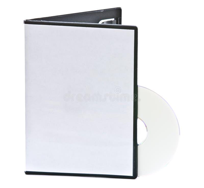 Caso in bianco e disco di DVD immagini stock