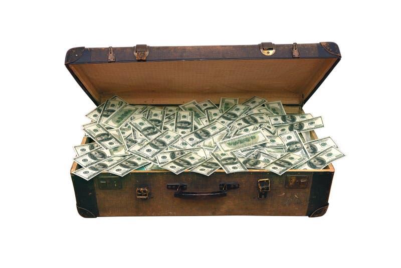 Caso com dinheiro foto de stock