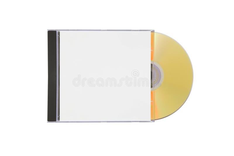 Caso con un disco dell'oro fotografie stock