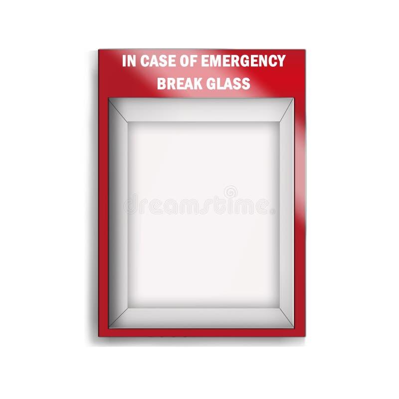 caso de cristal de la emergencia vacía libre illustration