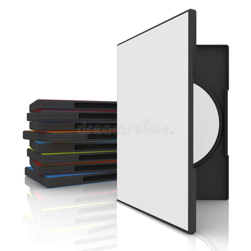 Caso de DVD ilustração stock