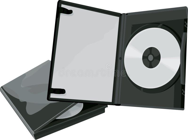 Caso de DVD e DVD ilustração royalty free