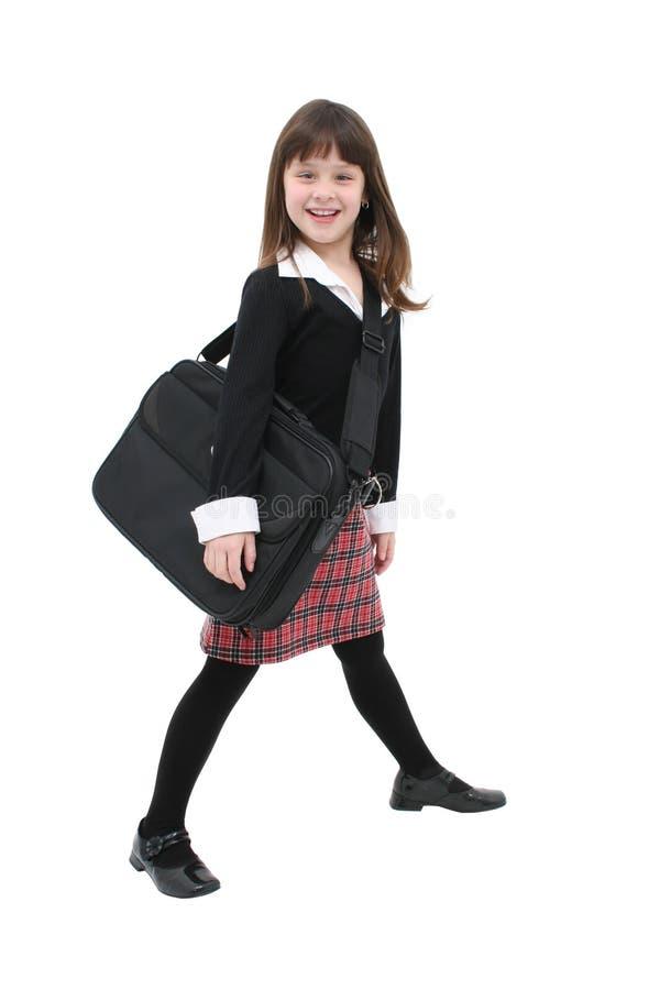 Caso de la muchacha w/Laptop foto de archivo