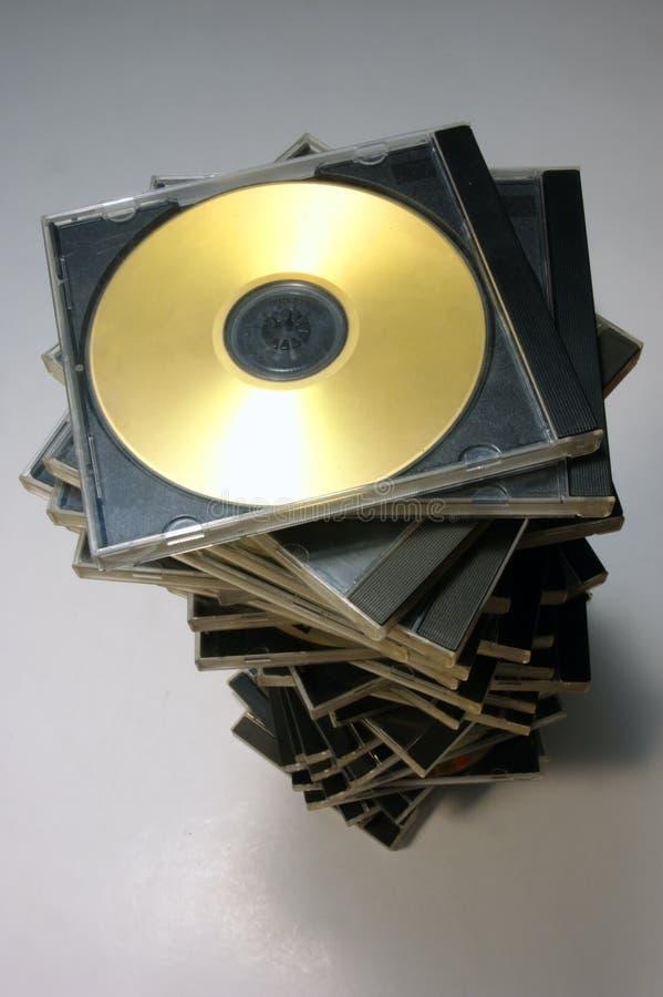 Caso di CD/DVD fotografia stock libera da diritti