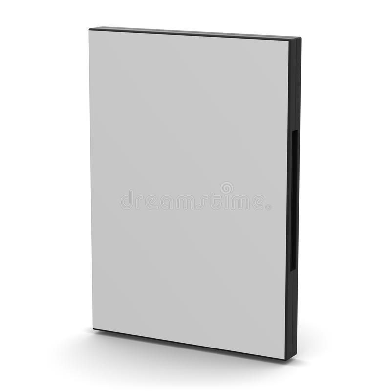 Caso di DVD - spazio in bianco immagini stock libere da diritti