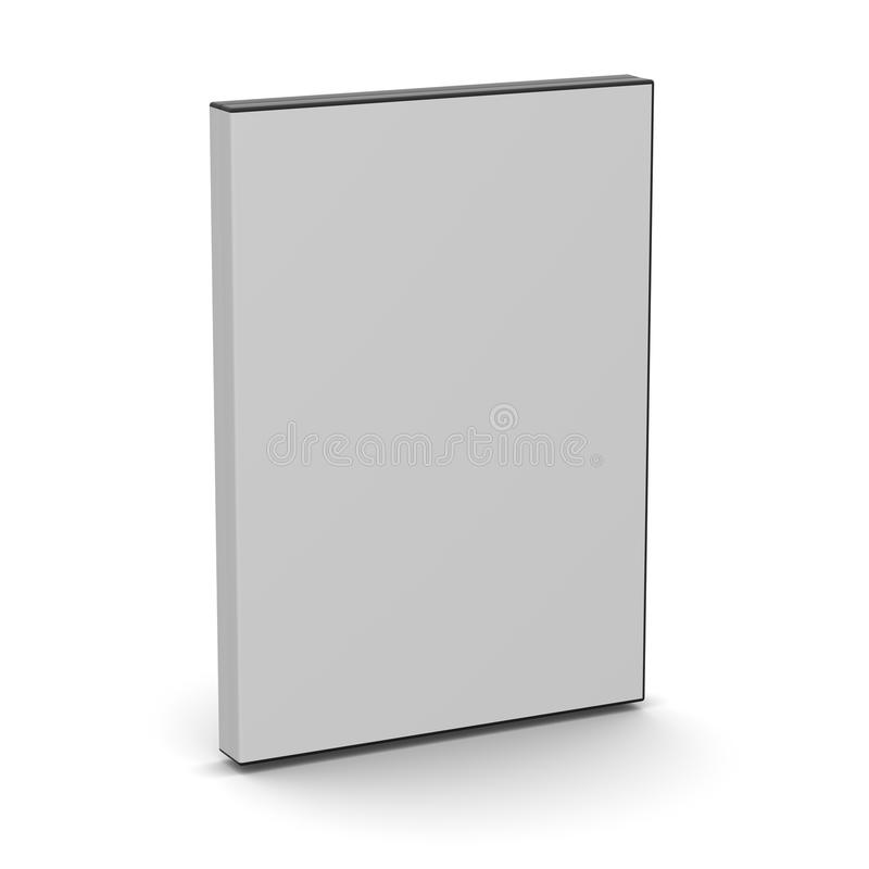 Caso di DVD - spazio in bianco immagine stock