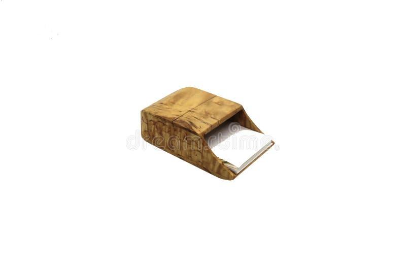 Caso di legno su un fondo bianco fotografia stock libera da diritti