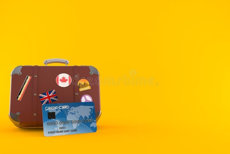Caso do curso com cartão de crédito ilustração do vetor