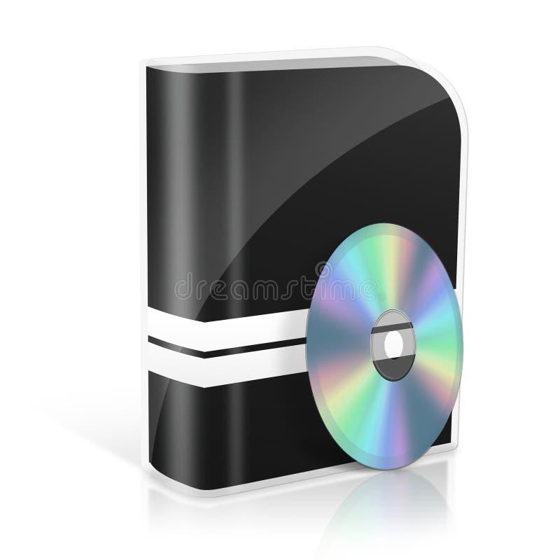 caso do dvd 3d ilustração royalty free