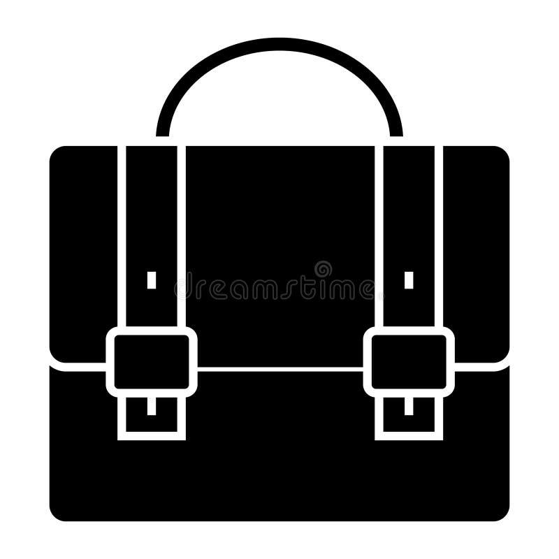 Caso do negócio - ícone do portfólio, ilustração do vetor, sinal preto no fundo isolado ilustração do vetor