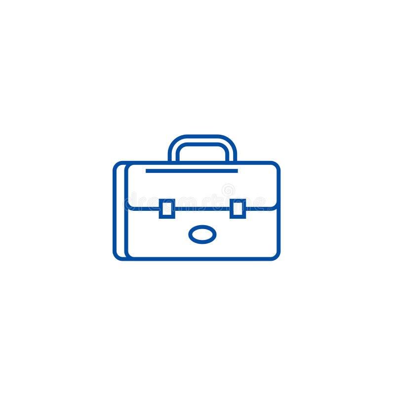 Caso do negócio, linha conceito do sinal do portfólio do ícone Caso do negócio, símbolo liso do vetor do sinal do portfólio, sina ilustração do vetor