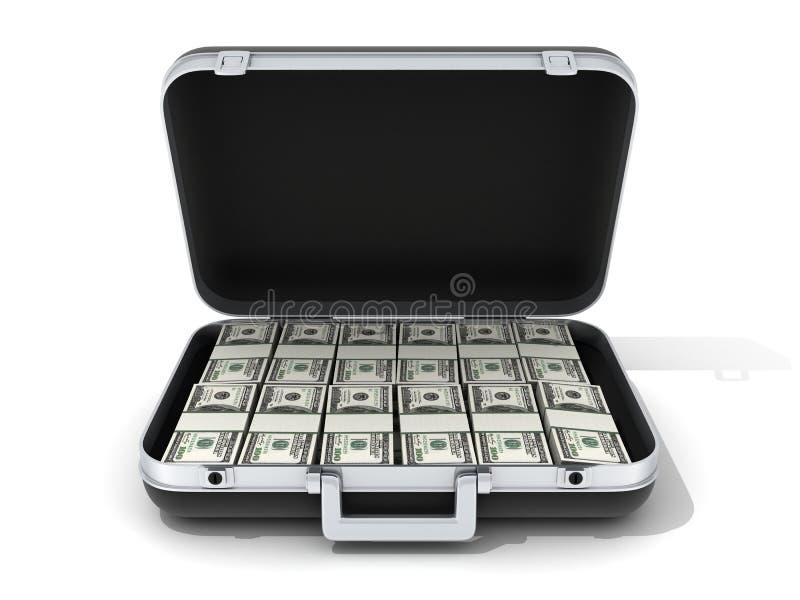 Caso e dinheiro ilustração royalty free