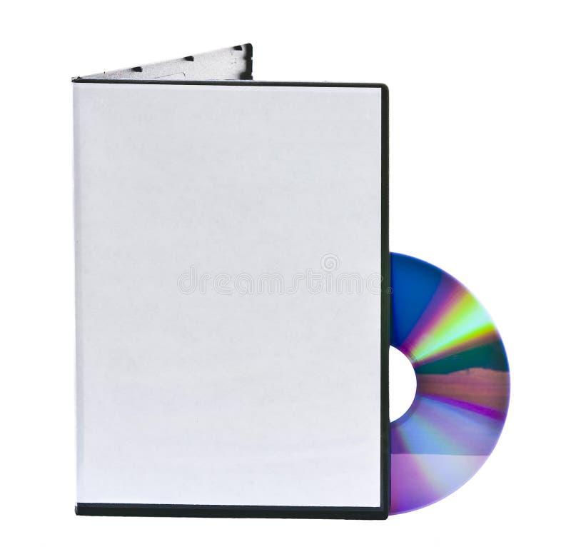 Caso em branco e disco de DVD imagem de stock